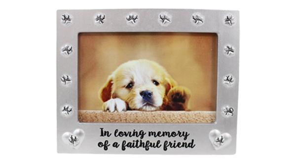 Loving Memory Pawprint Frame