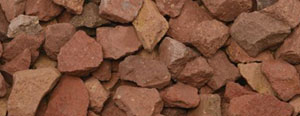 1″ Red Brick Chips (1/2″ – 1 1/4″)