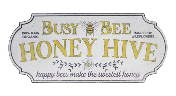 Busy Bee Honey Hive Wall Sign