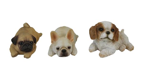 Laying Puppy Figurine