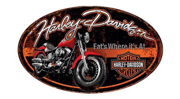 Harley Davidson Oval Steel Sign