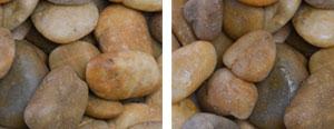 Ornate Yellow Pebbles (honey yellow  medium polish 2-3″)