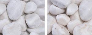 Ornate White Pebbles (white  unpolished 2-3″)