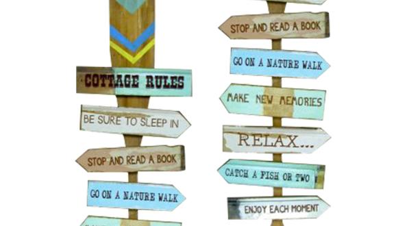 Oar Sign: Cottage Rules