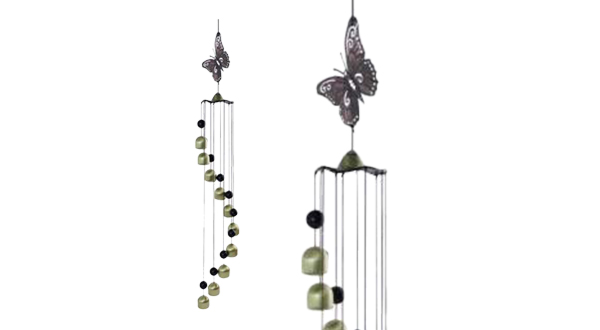 Butterfly Spiral Bell Chime