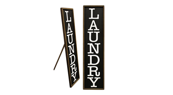 Vertical Laundry Sign