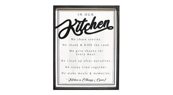 In Our Kitchen Sign