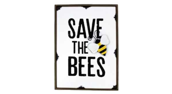 Save the Bees Shelf Sign