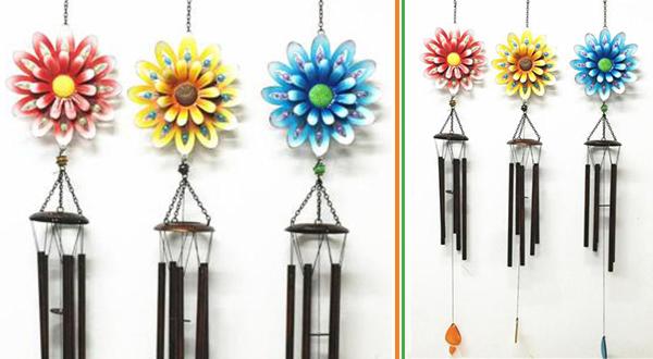 Metal Flower Windchime