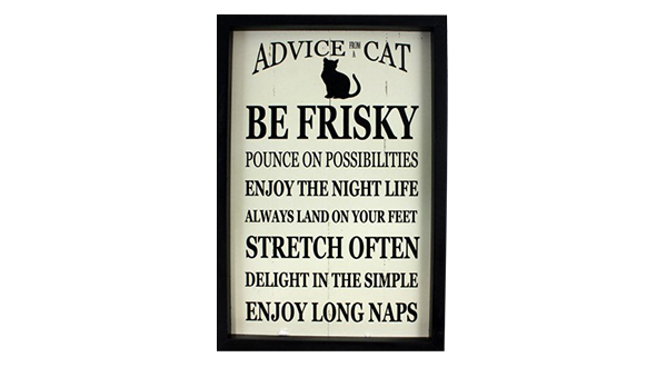 Advice From a Cat Sign