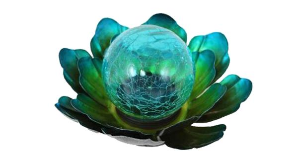 Solar Metal Blue Flower