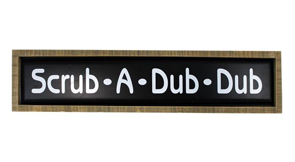 Scrub-A-Dub Sign