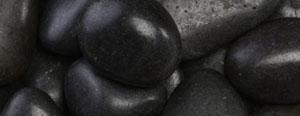 Ornate Beach Pebbles (black  medium polish  2-3″)