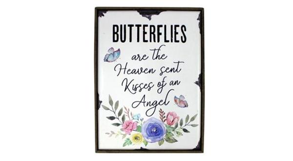 Butterfly Kisses Shelf Plaque